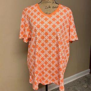 Bright orange top